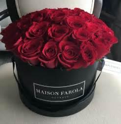 Flowers Shop Signature 3 Dozen Red Rose In Black Box Maison Farola Detroit Floral Design