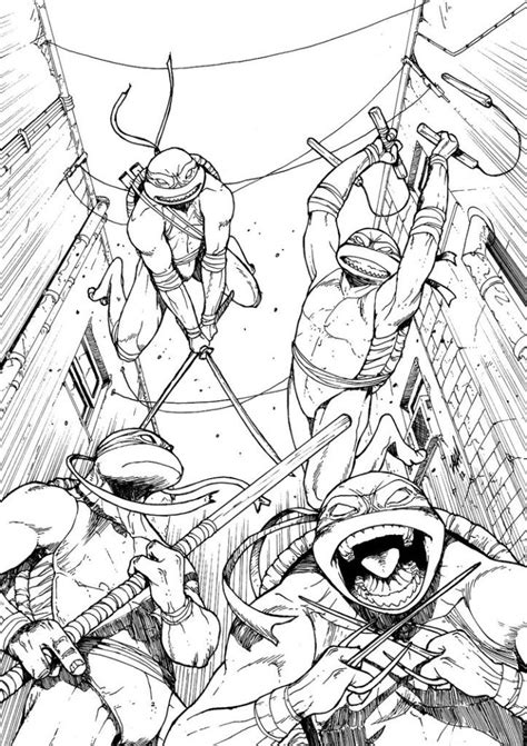 tmnt nick colouring pages