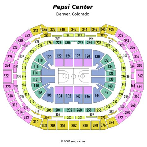pepsi center seating view ncaa mens basketball tournament march 17 tickets denver