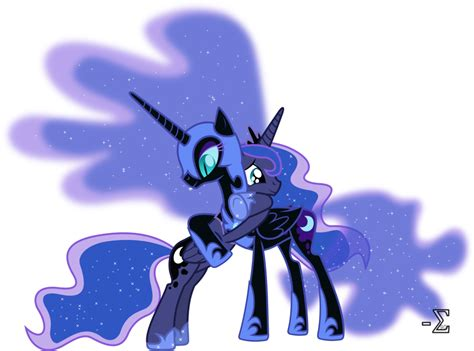 imagenes de unicornios con luna nightmare moon and princess luna hugging by 90sigma on