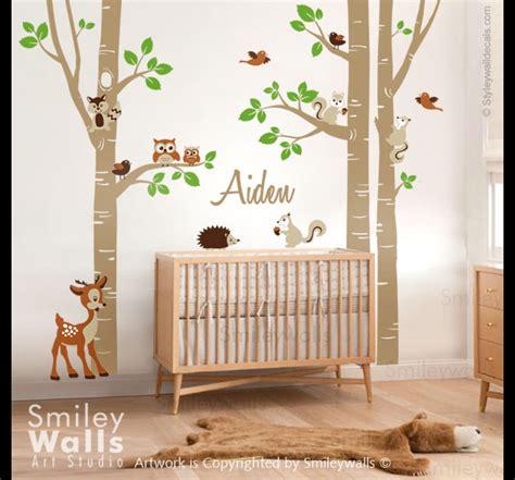 Kinderzimmer Gestalten Waldtiere by Wandtattoos Eichh 246 Rnchen Wald Birken Wandtattoo