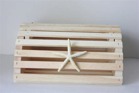 New LOBSTER TRAP CARDBOX Card Box Holder Natural Wooden