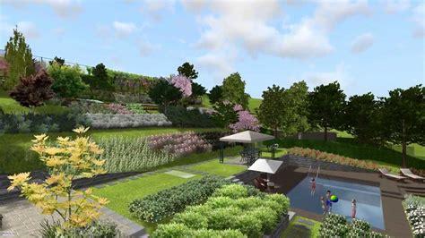 design di giardini villa in collina con piscina