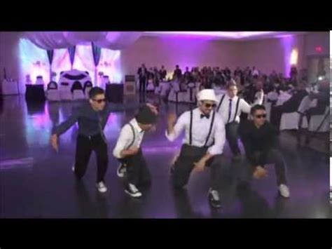 Wedding To Uptown Funk by Groom And Groomsmen With Breakdance To