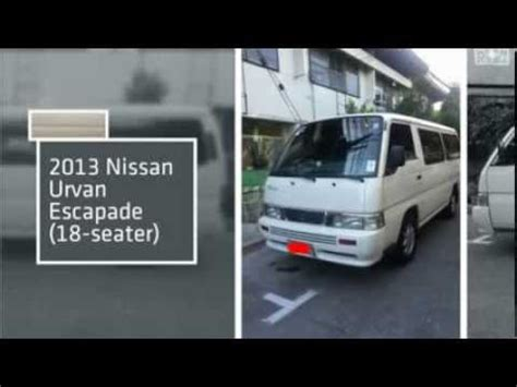 nissan urvan escapade modified 2013 nissan urvan escapade a t 18 seater youtube