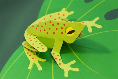 How To Make A 3d Frog Out Of Paper - an exhibition week 2 11 15 yr olds ventnor