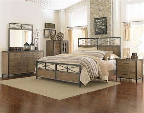 shady grove metal and wood bedroom set
