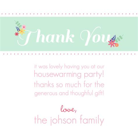 thank you letter housewarming gift floral wreath housewarming set thank you template