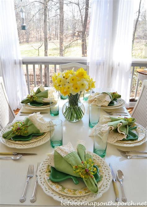 spring table settings st patrick s day spring table setting tablescape