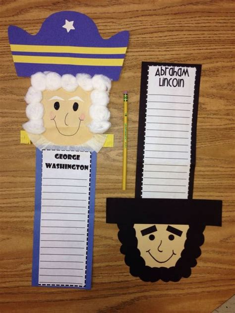 george washington crafts for president s day craft george washington abe lincoln