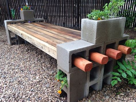 what is a bench block my take on the cinder block bench using repurposed fence