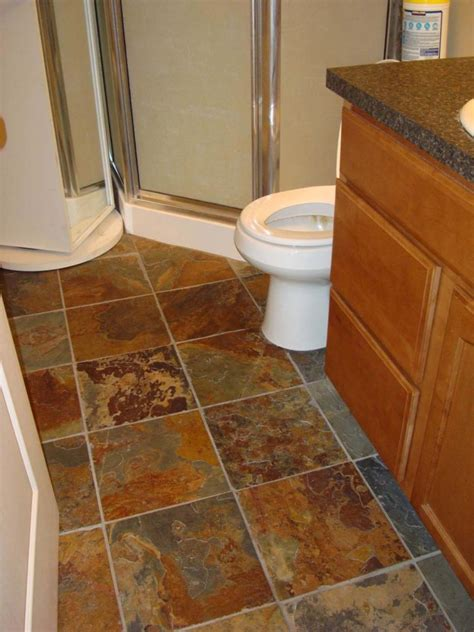 tile flooring for bathrooms 30 pictures of slate tiles for bathroom floor