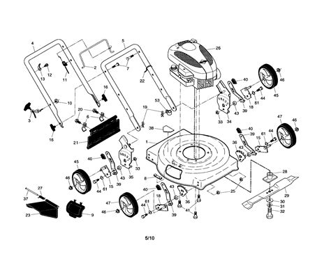 lawn mower part diagram craftsman lawn mower parts model 917385127 sears