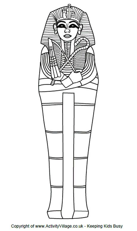 Sarcophagus Colouring Page Sarcophagus Coloring Page