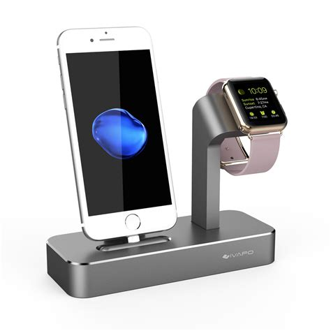 phone charging stand ivapo 2 in 1 charging dock for apple watch stand solid