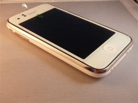 apple iphone  bluetooth wifi gb white phone att fair condition  cell phones cheap