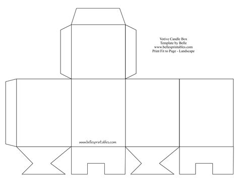 printable box template votive candle box needs changing the bottom does not