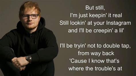 ed sheeran new man new man ed sheeran lyrics youtube