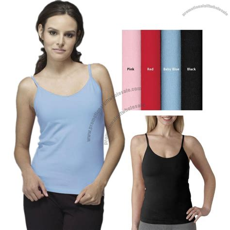 Cotton Camisole Shelf by Promotional Cotton Spandex Camisole With Shelf Logo