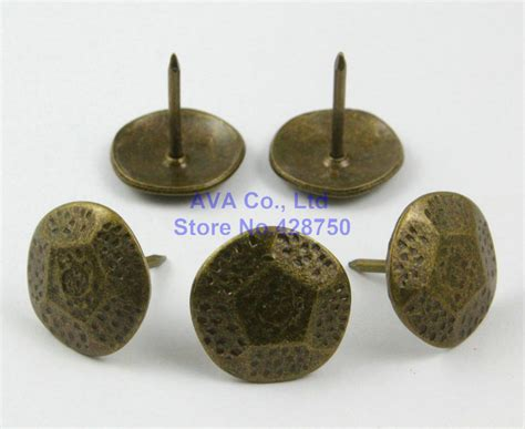 50 pieces 20mm antique brass upholstery tacks nails in