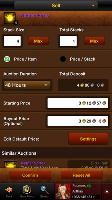 wow mobile app world of warcraft mobile armory for iphone