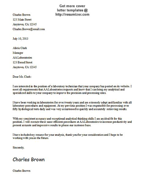 cover letter for template cover letter template 6