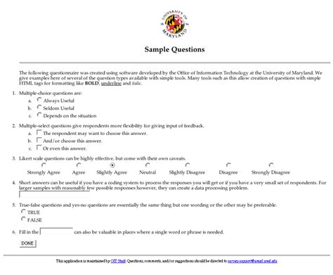 Survey Exles - sle surveys questionnaires gse bookbinder co