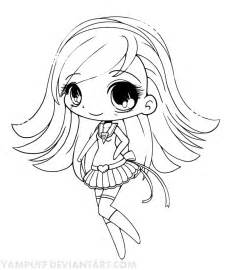 Anime Chibi Mermaid Coloring Pages Girl sketch template