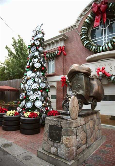 cars land gets gussied up for the holidays at disney california adventure park disney parks