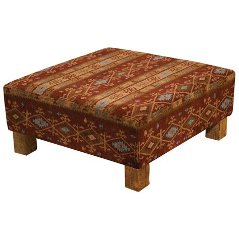 mountain coffee table ottoman with barnwood legs