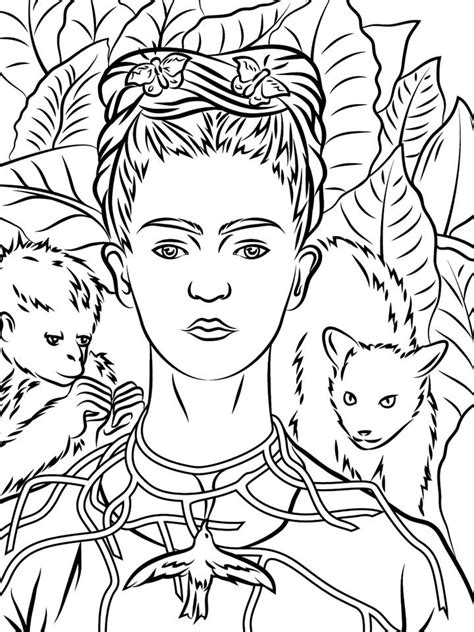 libro frida kahlo colouring books coloring pages 2017