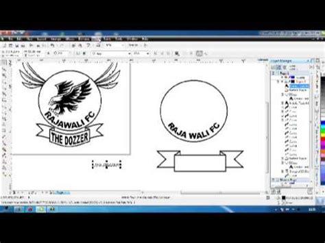 membuat logo di corel draw x5 buat logo corel draw x5 youtube