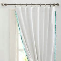 Pom Pom Curtains Designs Pom Pom Drape Pool Contemporary Curtains By Pbteen