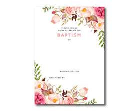 free baptism invitation templates printable free printable baptism floral invitation template
