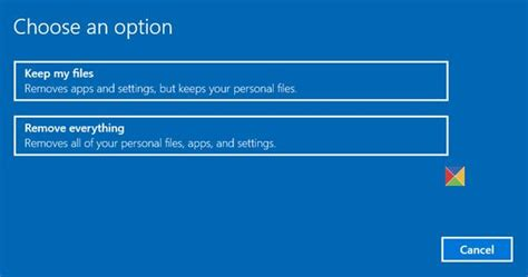 windows keeps resetting reset windows 10 to factory settings without losing files