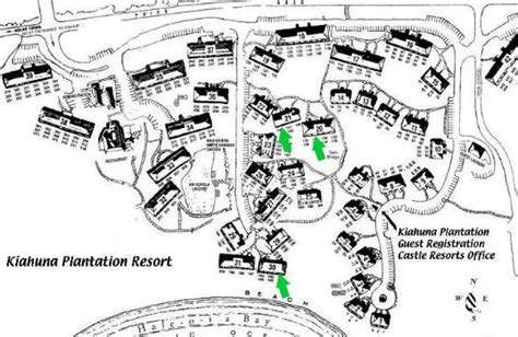 Two Bedroom Home Plans by Kiahuna Plantation Floor Plans And Maps