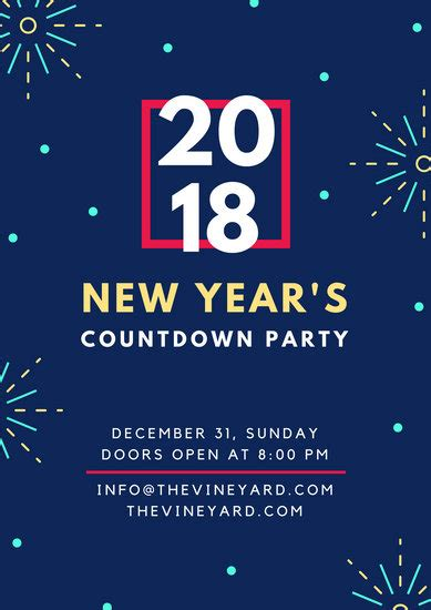 poster for new year new year s countdown poster templates by canva