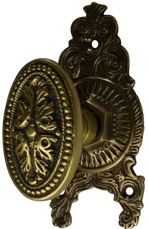 Antique Door Knob Sets by Solid Brass Avalon Ornate Door Knob Set Antique Brass Finish