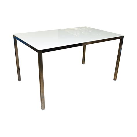 White Top Dining Table 74 Ikea Ikea White Top And Chrome Base Dining Table Tables