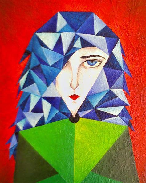 figuras geometricas mas conocidas arte por parte mulher cubista