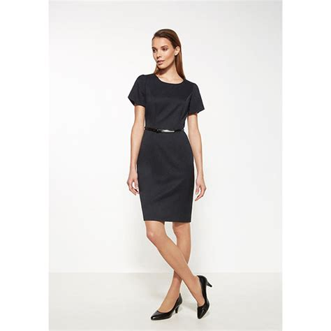 biz ladies short sleeve shift dress  healthcare