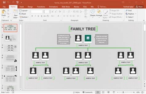 Family Tree Template For Excel Powerpoint Genealogy Template