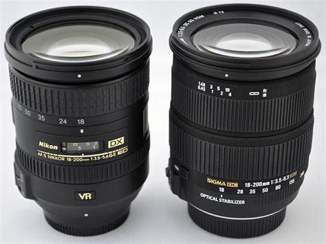 Sigma 18 200 Nikon Nikon Af S Dx 18 200mm G Vr Ii Lens Compared To Sigma Dc 18 200mm Os Zoom