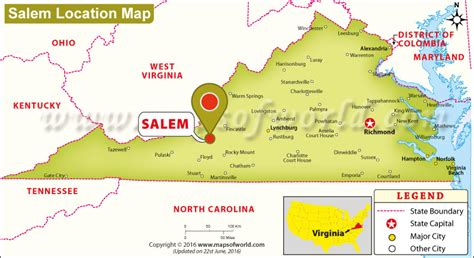 salem usa map where is salem located in virginia usa