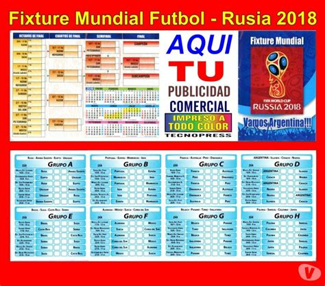 resultados mundial rusia 2018 fixture mundial futbol rusia 2018 con publicidad comercial