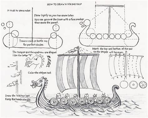 viking ship template how to draw worksheets for the artist how to draw a