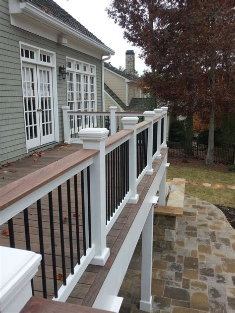 this railing could work for us porches stains two tones and decks