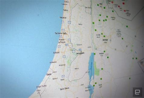 goo maps removes palestine from middle east map breaking news pakistan
