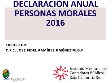provisionales personas morales 2016 isr newhairstylesformen2014com declaraci 243 n anual personas morales 2016 imcpbcs
