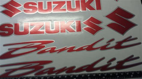 Suzuki Bandit Decals Suzuki Bandit 2 Colour Decals Stickers Silver